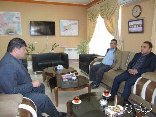 نشست مشترک فرماندار شهرستان آق قلا با مدیر عامل آب و فاضلاب شهری استان برگزار شد