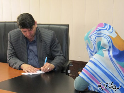 دیدار چهره به چهره فرماندار با مردم شهرستان آق قلا برگزار شد