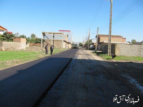 آسفالت دو هزار متر مربع از معابر روستای پیرواش سفلی با اعتبار 100 میلیون تومان