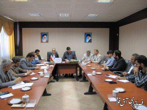 دوازدهمین جلسه ستاد انتخابات شهرستان آق قلا برگزار شد
