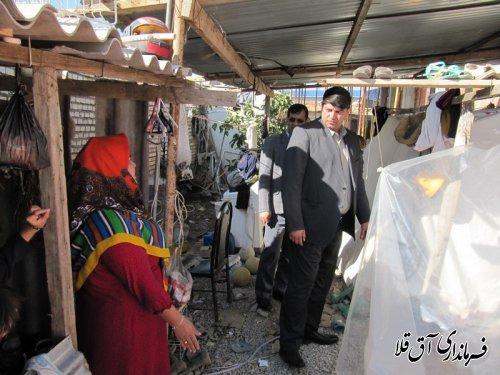 بازدید فرماندار از روند احداث واحدهای مسکونی مناطق سیل زده شهر آق قلا