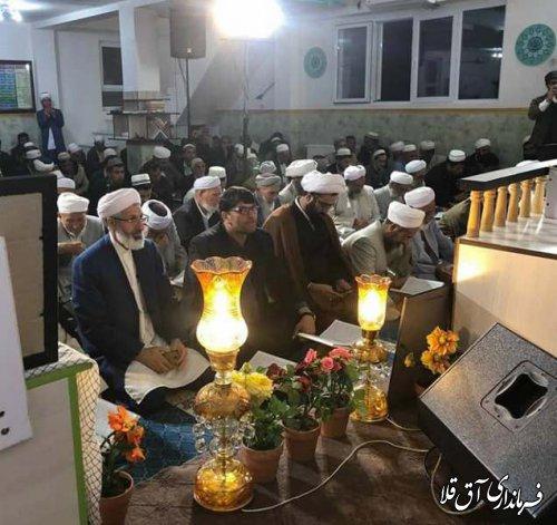 محفل انس با کلام وحی در روستای میرزاعلی یلقی شهرستان آق قلا برگزار شد