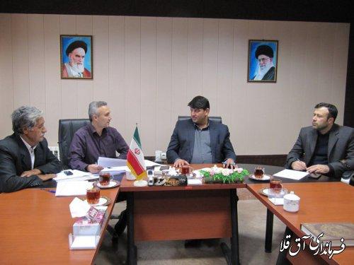 جلسه هیات تطبیق مصوبات شوراهای اسلامی شهرستان آق قلا برگزار شد