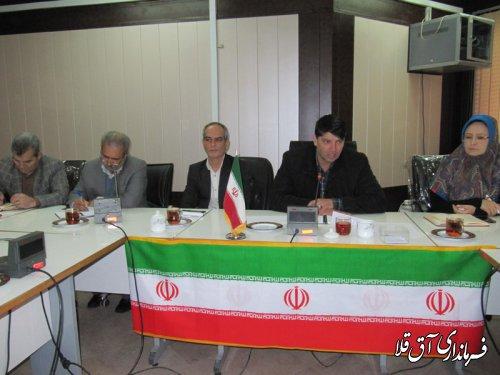 چهارمین جلسه کارگروه تنظیم بازار شهرستان آق قلا در سال جاری برگزار شد