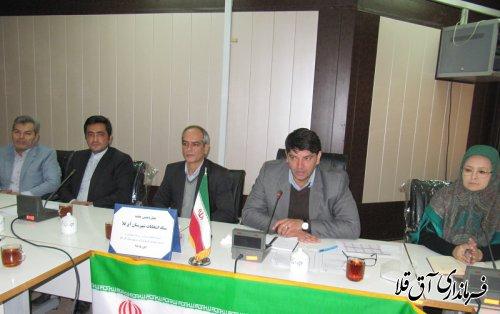 چهاردهمین جلسه ستاد انتخابات شهرستان آق قلا برگزار شد