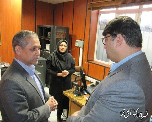 فرماندار بصورت سرزده از اداره دارایی شهرستان آق قلا بازدید بعمل آورد