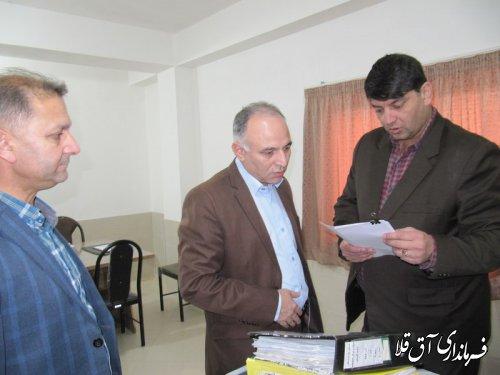 نماینده عالی دولت بصورت سرزده از ادارات کار و صمت شهرستان آق قلا بازدید بعمل آورد