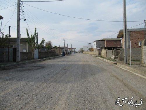 زیر سازی و آسفالت چهار هزار متر مربع از معابر روستای یامپی با اعتبار 220 میلیون تومان