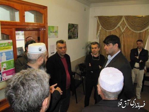 نماینده عالی دولت بصورت سرزده از ادارات دامپزشکی و ستاد بازسازی شهرستان آق قلا بازدید بعمل آورد