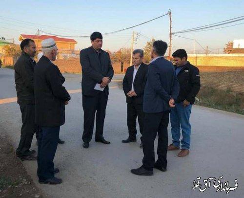 فرماندار آق قلا از روستاهای بهلکه داشلی و سازمان حیدری بازدید میدانی بعمل آورد