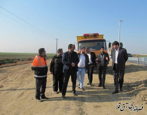 بازدید مشترک فرماندار شهرستان آق قلا و مدیرکل راهداری و حمل و نقل جاده ای استان