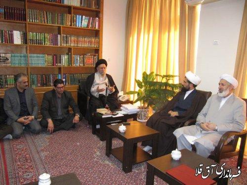 فرماندار شهرستان آق قلا با نماینده ولی فقیه در استان دیدار کرد
