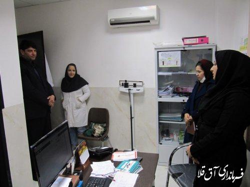 نماینده عالی دولت بصورت سرزده از مرکز جامع سلامت شماره 2 شهر آق قلا بازدید بعمل آورد
