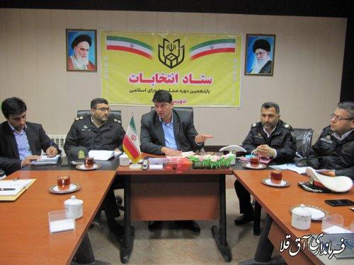 چهارمین جلسه شورای ترافیک شهرستان آق قلا در سال جاری برگزار شد