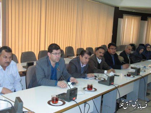سومین جلسه ستاد صیانت و حقوق شهروندی شهرستان آق قلا در سال جاری برگزار شد