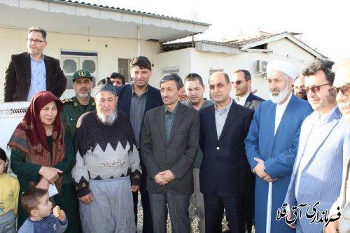 یکهزار و 954 واحد مسکونی مناطق سیل زده شهرستان آق قلا در حال احداث می باشد