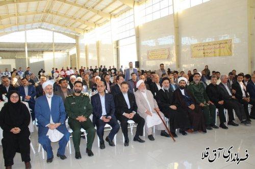 آئین افتتاح متمرکز پروژه های دهه فجر شهرستان آق قلا برگزار شد