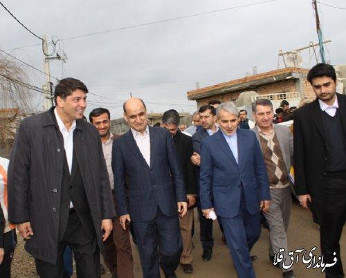 3000 مین واحد مسکونی احداثی مناطق سیل زده استان در شهرستان آق قلا افتتاح شد