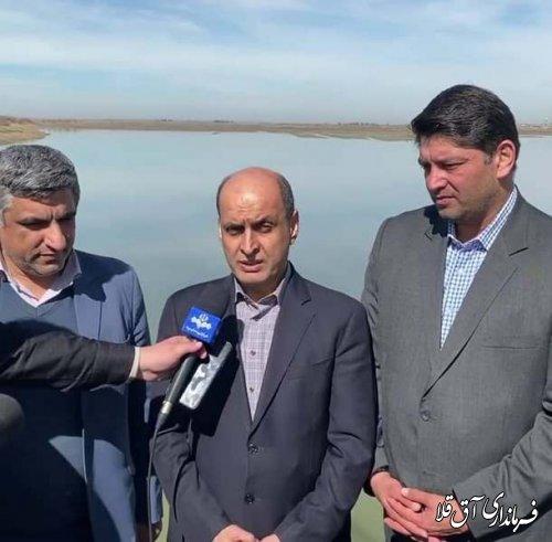 ذخیره سازی 6 میلیون متر مکعب آب در سد وشمگیر شهرستان آق قلا