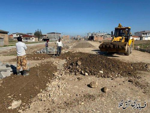 آسفالت 25 هزار متر مربع معابر شهری آق قلا با اعتبار 10 میلیارد و 500 میلیون ریال