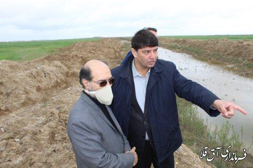 تخصیص 125 میلیارد ریال اعتبار جهت انحراف سیلاب سد آقدگش