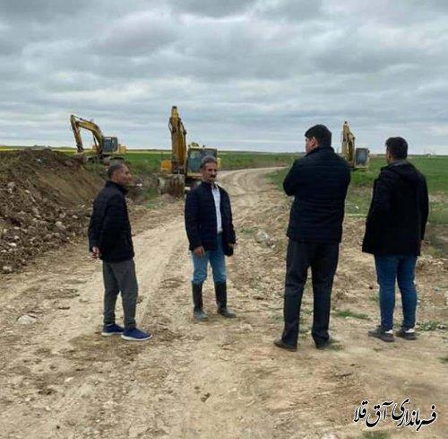 آغاز عملیات احداث دایک حفاظتی یلمه خندان شهرستان آق قلا