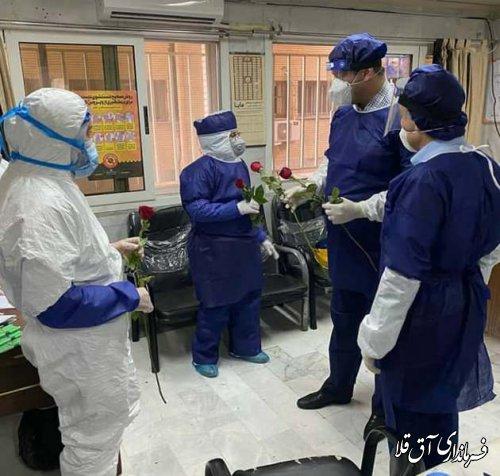 معاون سیاسی،امنیتی و اجتماعی استانداری از بیمارستان آل جلیل شهر آق قلا بازدید کرد