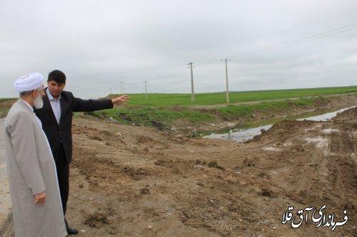 امام جمعه شهر آق قلا از پروژه های در حال اجرای ستاد مدیریت بحران بازدید بعمل آورد