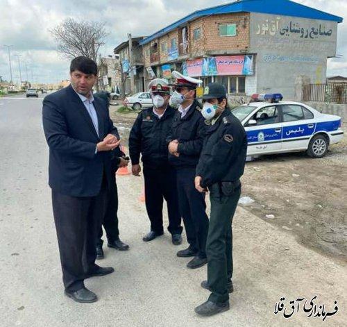 طرح جلوگیری از تردد پلاک های غیر بومی در شهرستان آق قلا اجرایی شد