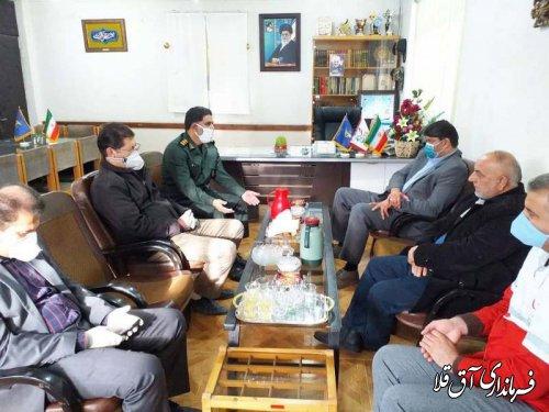 نماینده عالی دولت با فرمانده ناحیه مقاومت بسیج شهرستان آق قلا دیدار کرد