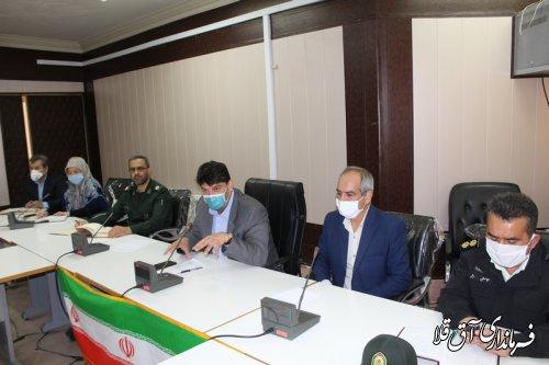 جلسه هماهنگی کمیته انتظامی کرونا و روز طبیعت در شهرستان آق قلا برگزار شد