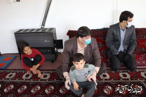 دلجویی فرماندار شهرستان آق قلا از خانواده دارای 4 فرزند معلول روستای سلاق یلقی بخش مرکزی