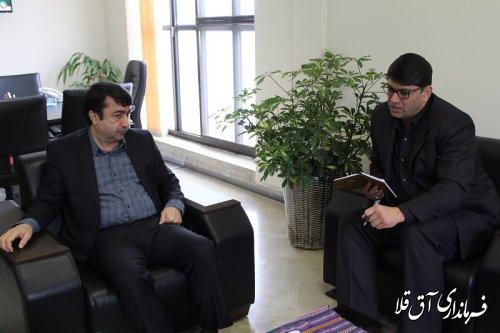 نشست مشترک فرماندار شهرستان آق قلا با معاون هماهنگی امور اقتصادی استانداری