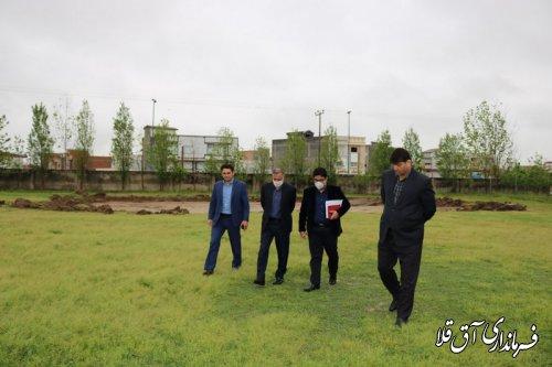 بهره برداری از پروژه چمن مصنوعی شهر آق قلا با اعتبار 39 میلیارد ریال،همزمان با دهه مبارک فجر