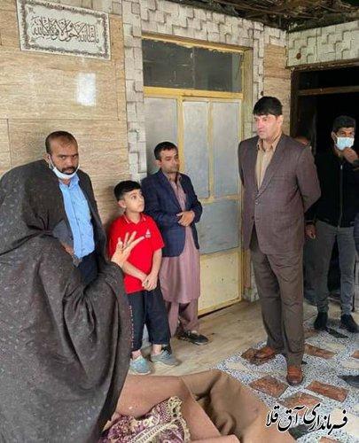 نماینده عالی دولت از روستای پیرواش سفلی شهرستان آق قلا بازدید بعمل آورد