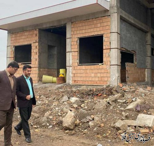 فرماندار شهرستان آق قلا از پروژه های عمرانی شهر انبار الوم بازدید کرد