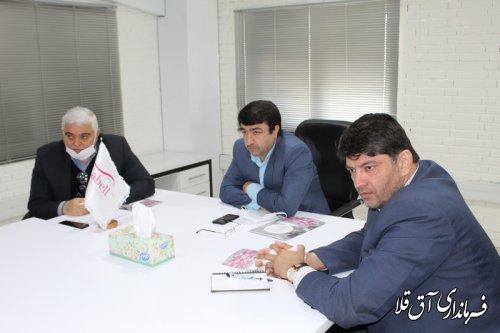 مشکلات واحد تولیدی در شهرک صنعتی اترک شهرستان آق قلا بررسی شد