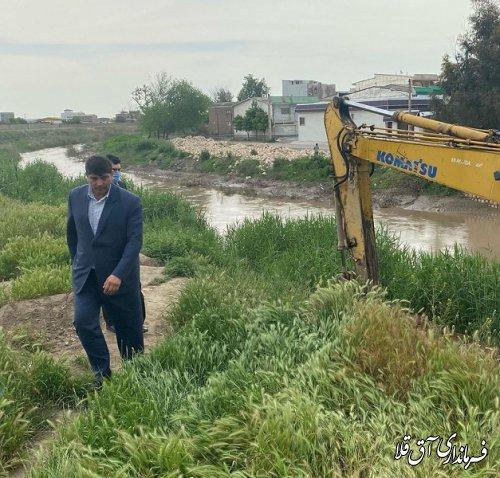 آغاز عملیات لایروبی رودخانه گرگان رود،حدفاصل پل شهید باهنر تا مسکن مهر