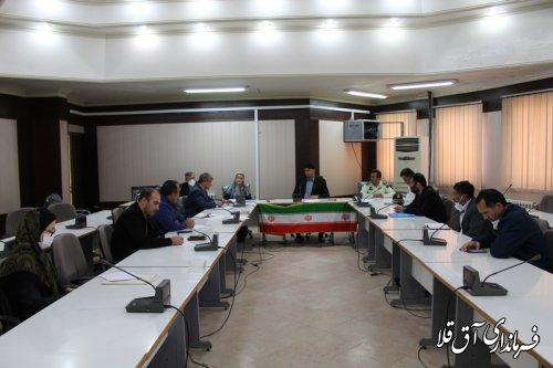 اولین جلسه شورای بخش کشاورزی شهرستان آق قلا در سال جاری برگزار شد