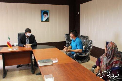 اولین ملاقات عمومی فرماندار شهرستان آق قلا در سال جاری برگزار شد