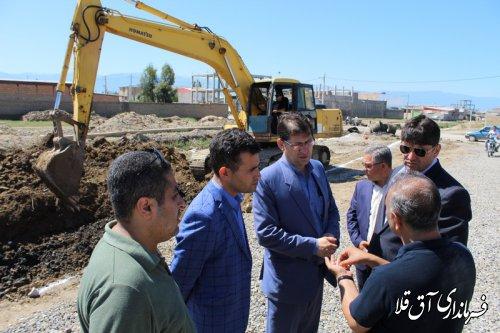 آغاز عملیات اجرای کانال بتنی قیه جیق شهر آق قلا با اعتبار 21 میلیارد ریال