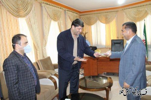 آئین معارفه مدیر آب و فاضلاب شهرستان آق قلا برگزار شد