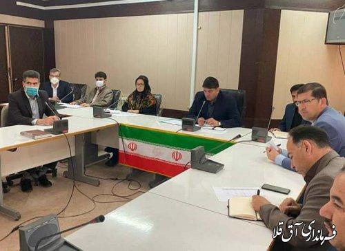 سی و پنجمین جلسه ستاد بازسازی و نوسازی شهرستان آق قلا برگزار شد