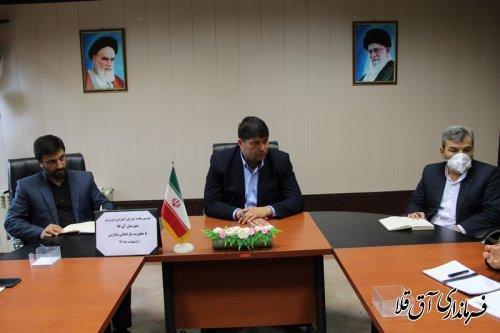 دومین جلسه شورای آموزش و پرورش شهرستان آق قلا برگزار شد