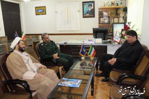 نماینده عالی دولت با فرماندهان نظامی و انتظامی شهرستان آق قلا دیدار کرد