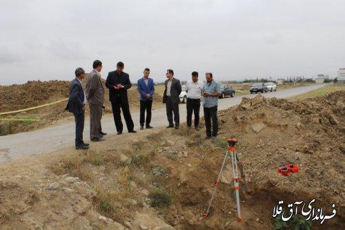اجرای پروژه کانال زیرزمینی بتنی شهر آق قلا با اعتبار 17 میلیارد و 500 میلیون ریال