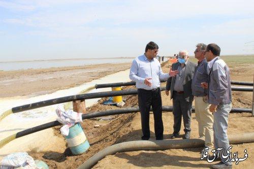 """70 هکتار اراضی منابع طبیعی از پساب""""شورآبه ید گلستان""""،پاکسازی شد"""