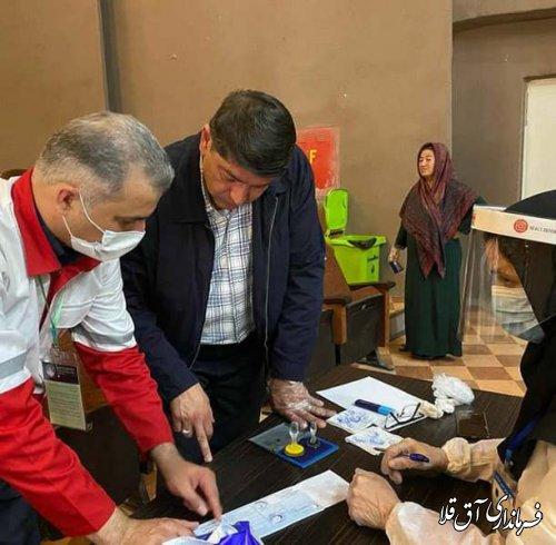 پنجمین دوره انتخابات جامع جمعیت هلال احمر در شهرستان آق قلا برگزار شد