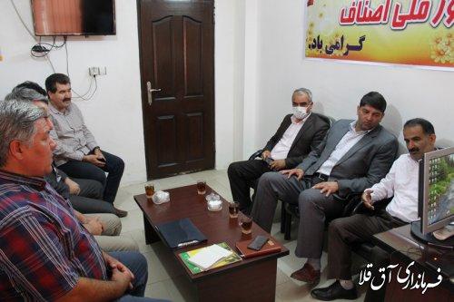 انتخابات هیات رئیسه اتاق اصناف شهرستان آق قلا برگزار شد