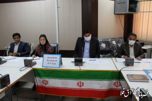 دومین جلسه کارگروه تنظیم بازار شهرستان آق قلا در سال جاری برگزار شد